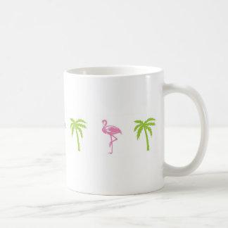Flamingo and Palm Tree Mug