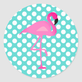 Flamingo and Polka Dot Stickers