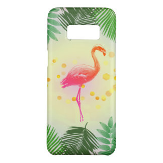 Flamingo and Tropical Leaves * Summer Time Madness Case-Mate Samsung Galaxy S8 Case