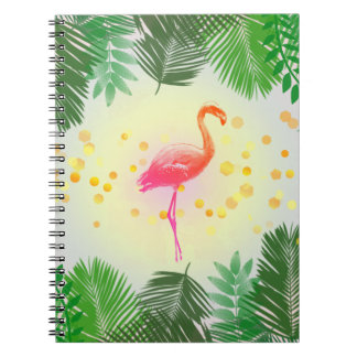 Flamingo and Tropical Leaves * Summer Time Madness Notebook