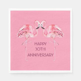 Flamingo Anniversary Luncheon Napkin