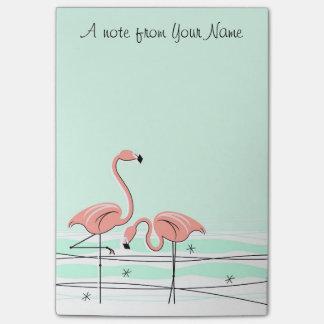 """Flamingo Aqua Pair """"Text"""" vertical Post-it Notes"""