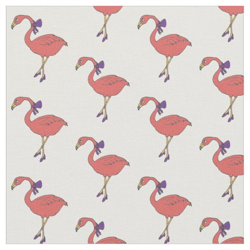 Flamingo art fabric