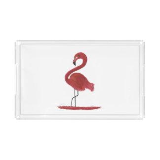 Flamingo Artwork Acrylic Tray