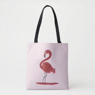 Flamingo Artwork Tote Bag