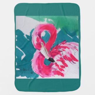 Flamingo Baby Blanket Impressionistic