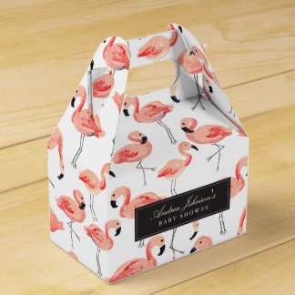 Flamingo Baby Shower Favour Boxes