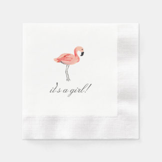 Flamingo Baby Shower Paper Napkin