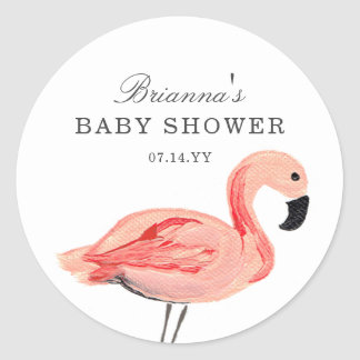 Flamingo Baby Shower Stickers