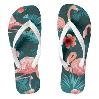 Flamingo Beach Flip Flops