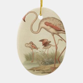Flamingo bingo ceramic ornament