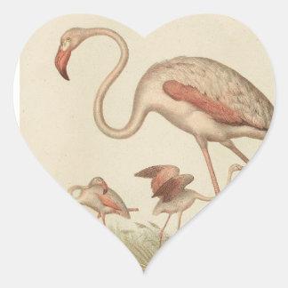 Flamingo bingo heart sticker