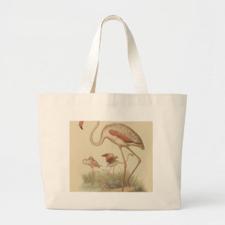 Flamingo bingo large tote bag