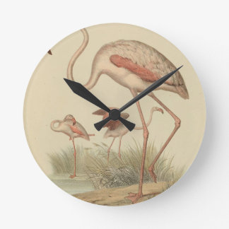 Flamingo bingo wallclocks
