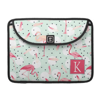 Flamingo Bird With Feathers | Add Your Initial Sleeve For MacBooks