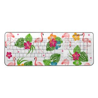 Flamingo Birds Wireless Keyboard