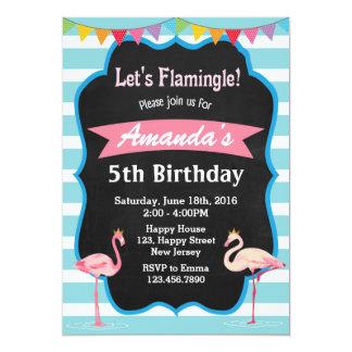 Flamingo Birthday Invitation