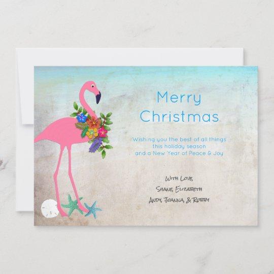Flamingo Christmas Cards.Zazzle Invitations