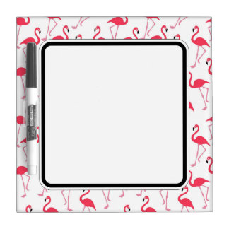 Flamingo Border. Dry Erase Board