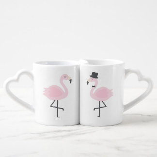 Flamingo Bride and Groom Personalized Mug Set