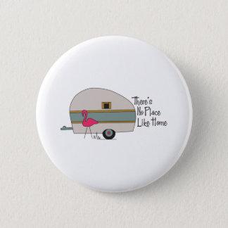 Flamingo Camper 2 Inch Round Button