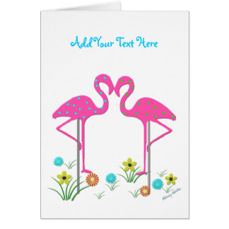 Flamingo Card Template