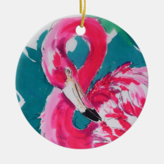 Flamingo Ceramic Ornament