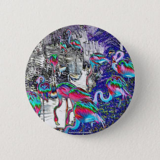 Flamingo Chrome Collection 2 Inch Round Button