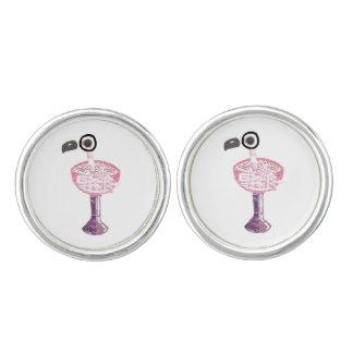 Flamingo Cocktail Cufflinks