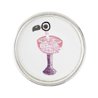 Flamingo Cocktail Label Pin Lapel Pin