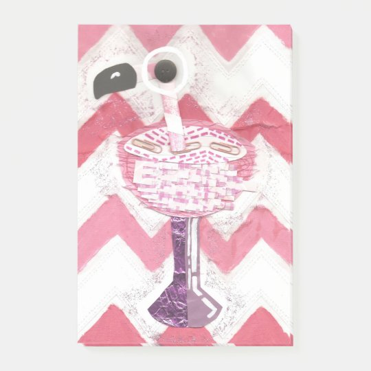 Flamingo Cocktail Post-It Notes