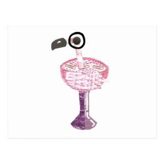 Flamingo Cocktail Postcard