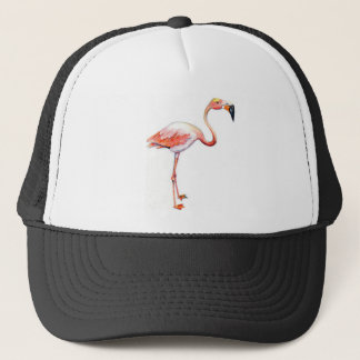 Flamingo Coffee Cup Trucker Hat