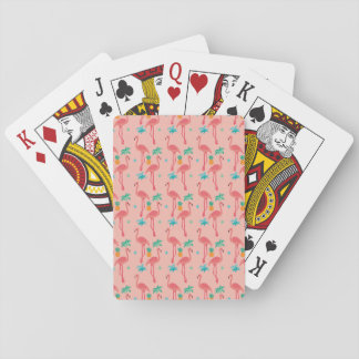 Flamingo Coral Playing Cards
