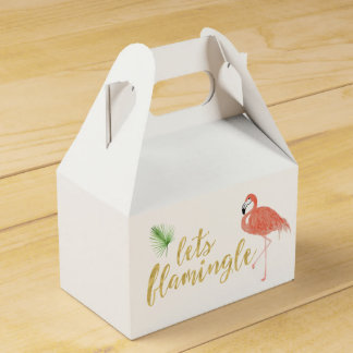 Flamingo Custom Gift Box - Gable Wedding Favor Box