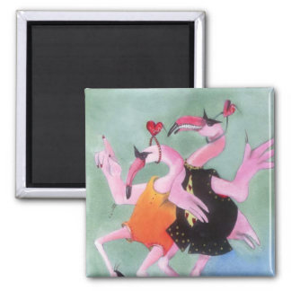 Flamingo Dance Magnet