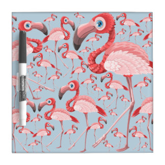 Flamingo Dry Erase Board