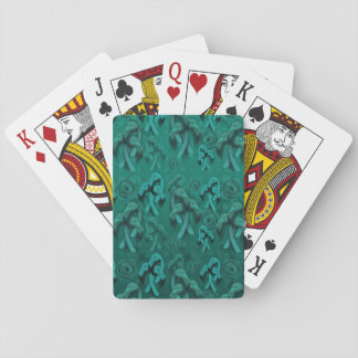 Flamingo fairytale playing cards