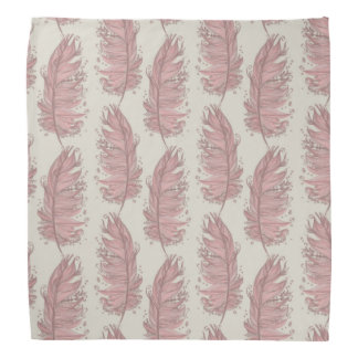 Flamingo feathers bandana