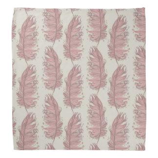Flamingo feathers bandana