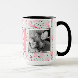 Flamingo Feathers On Polka Dots | LOVE with Photos Mug