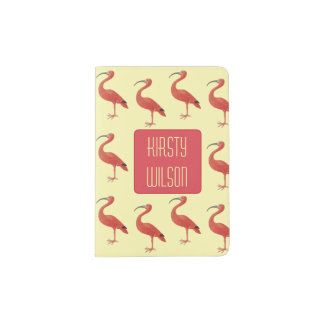 Flamingo - Fine Art Personalized Passport Holder