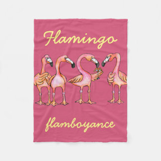 Flamingo flamboyance blanket