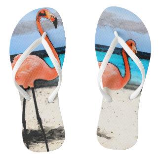 Flamingo FlipFlops White Flip Flops