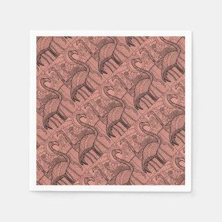 Flamingo Flock Disposable Napkin