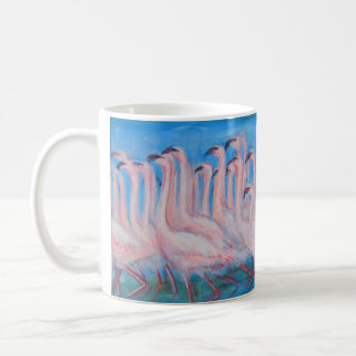 Flamingo Flock Painting Mug