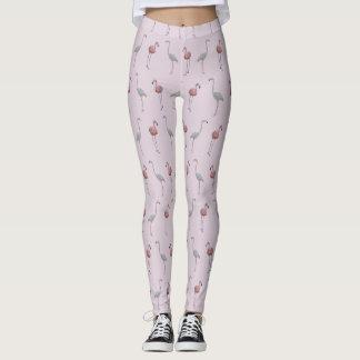 Flamingo Frenzy Leggings (Dusty Pink)