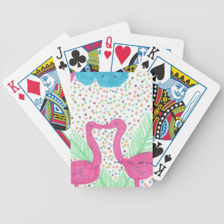 Flamingo Fun Tropical Pattern Bicycle Playing Cards