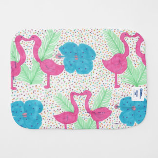 Flamingo Fun Tropical Pattern Burp Cloth