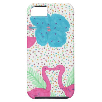 Flamingo Fun Tropical Pattern iPhone 5 Covers